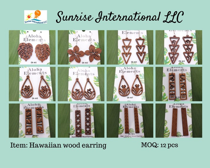 Wood earring without price